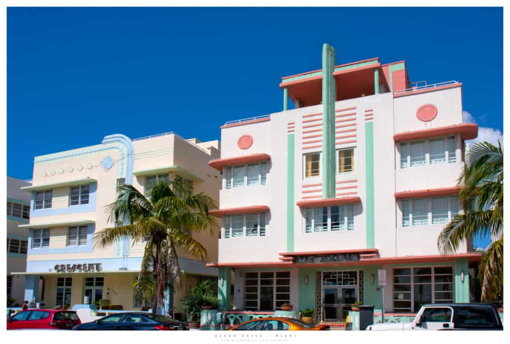 Roadtrip Florida - Art Deco buildings at Ocean Drive in Miami